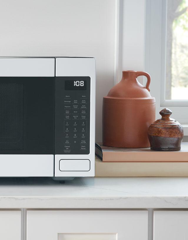 matte white microwave