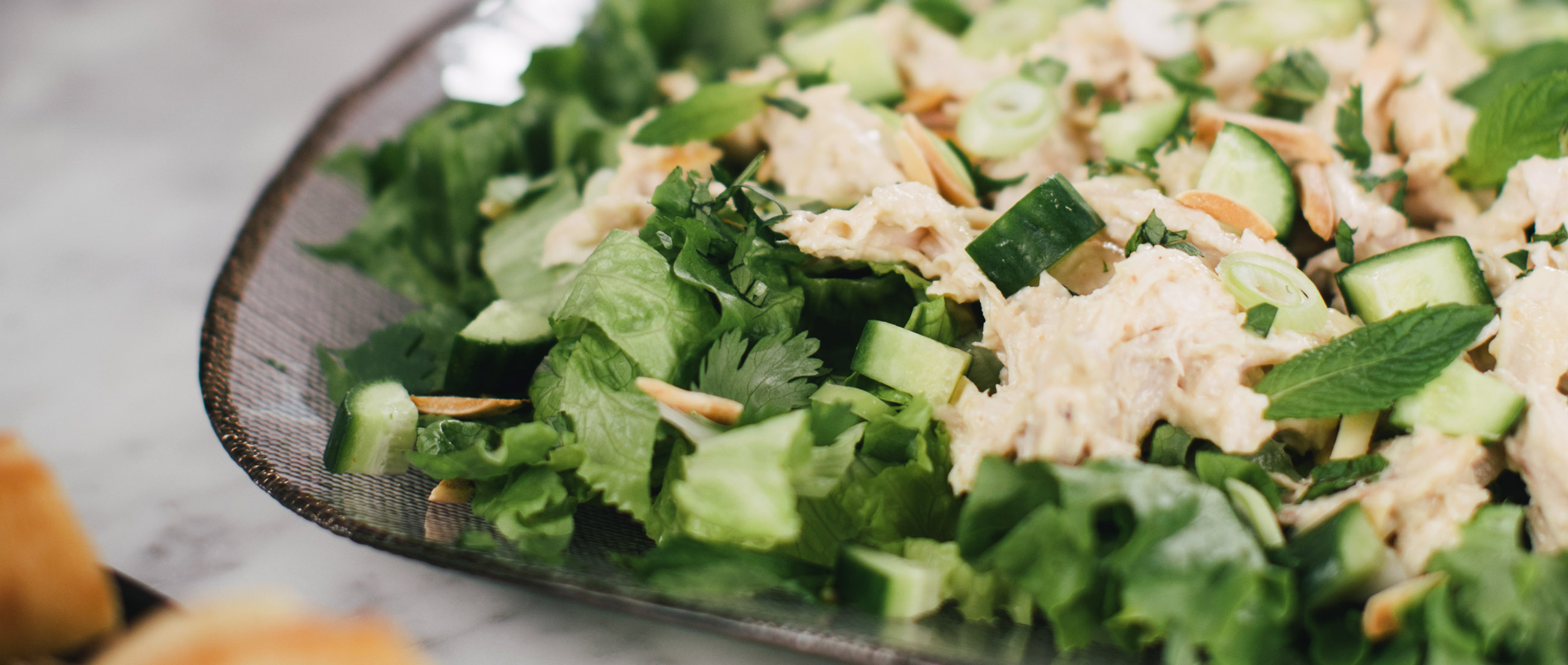 creamy miso chicken salad