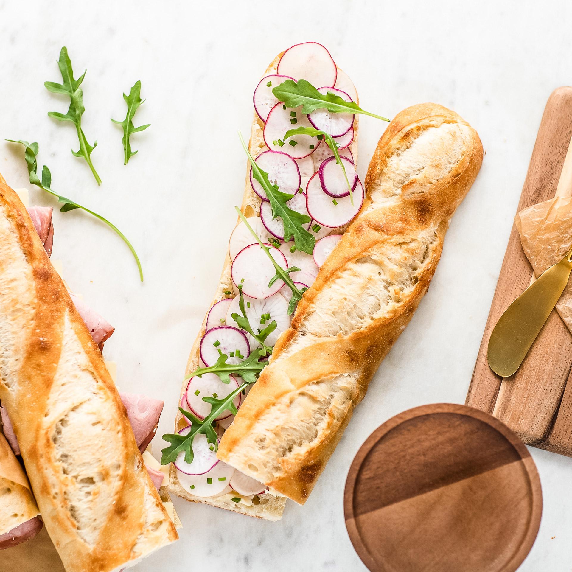 radish butter sandwich