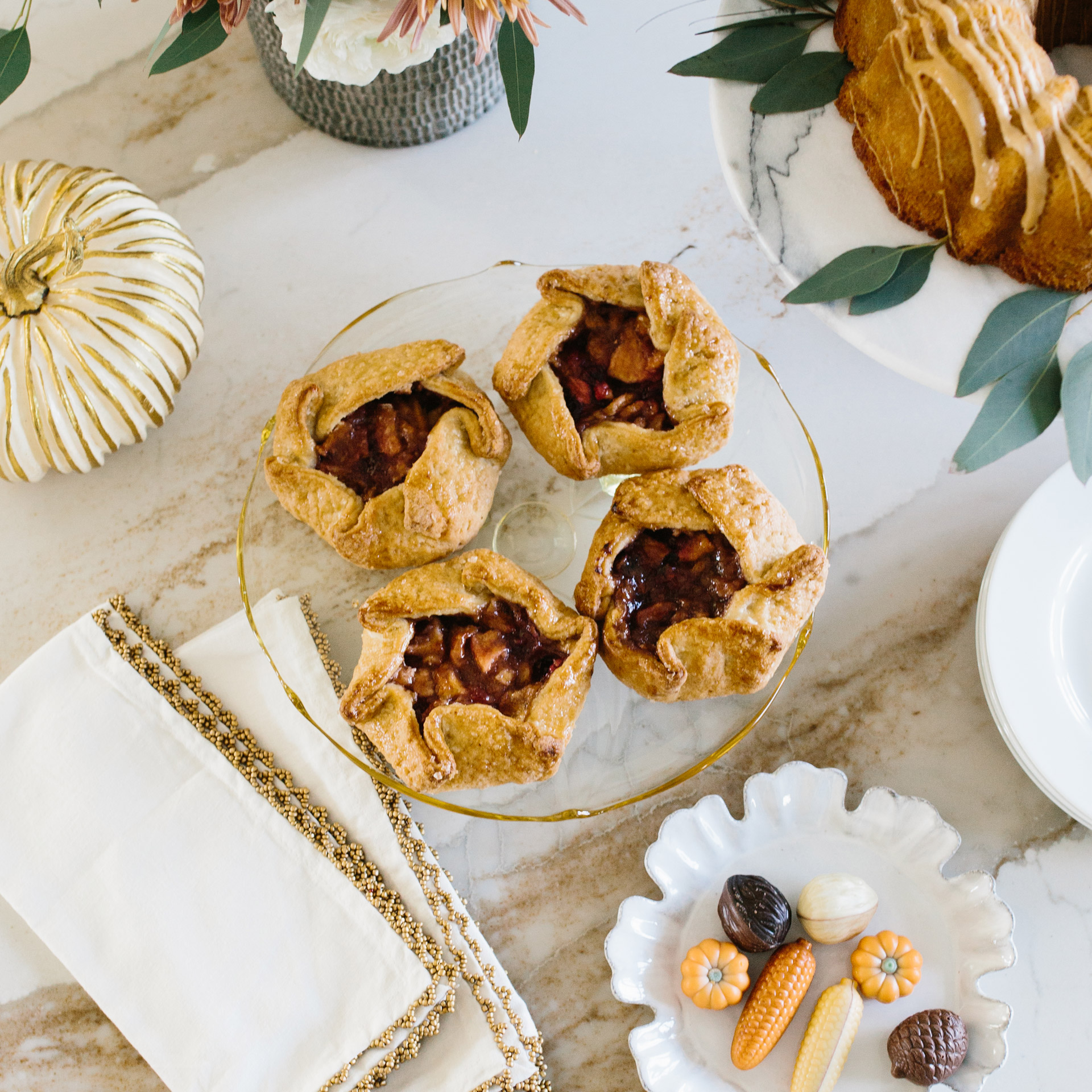 Mini Cranberry Pear Galettes