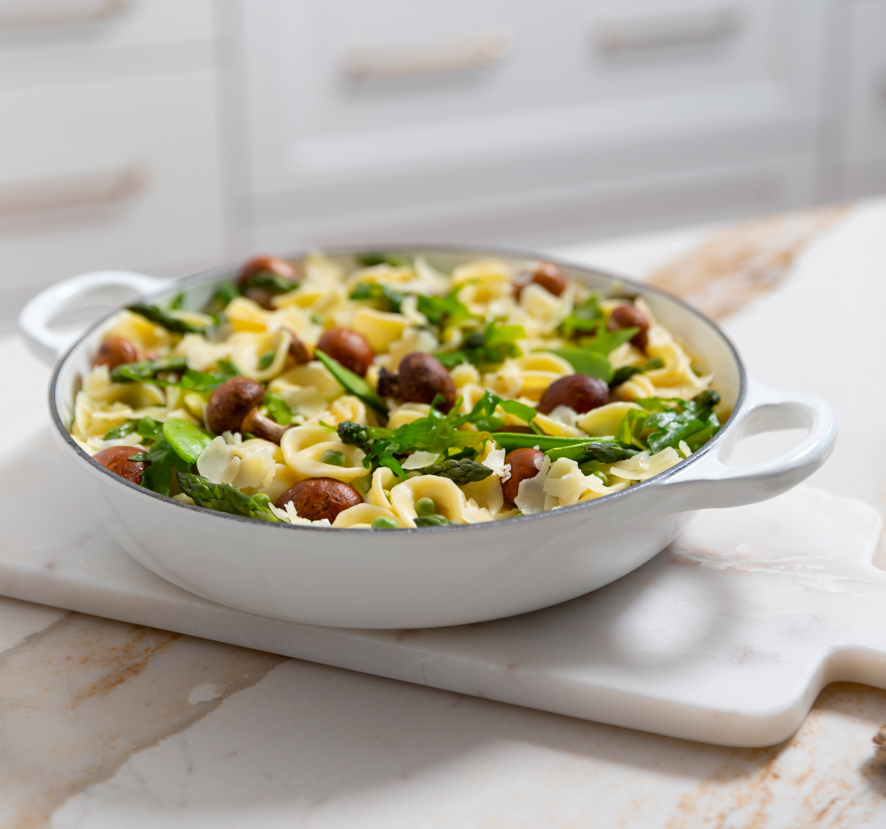 spring vegetable orecchiette