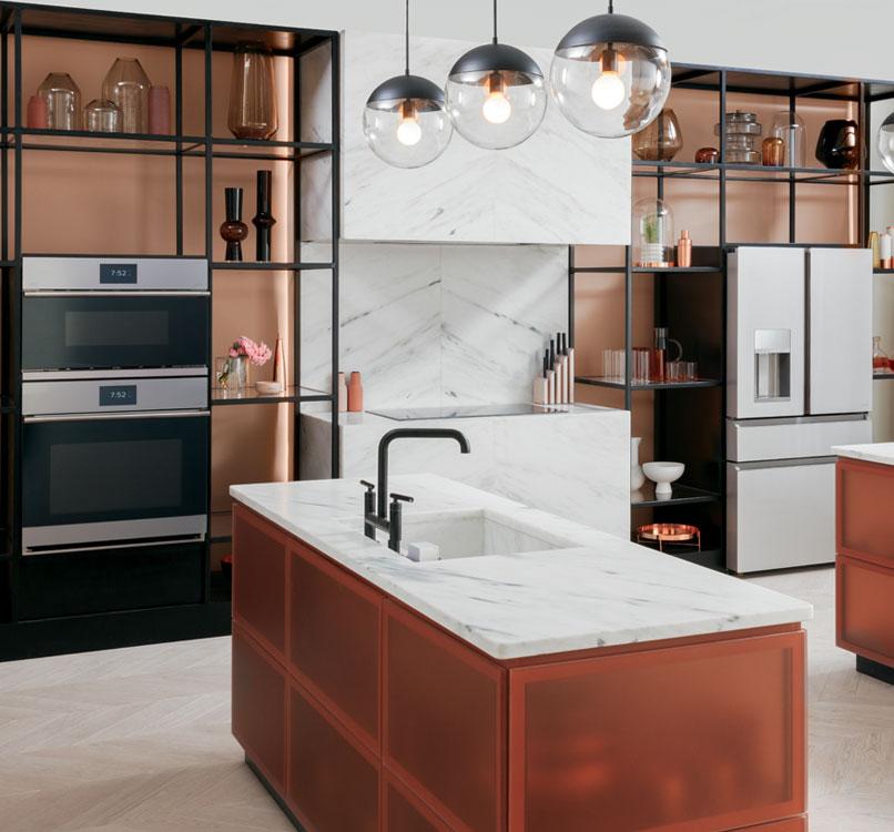 modern glass collection kitchen