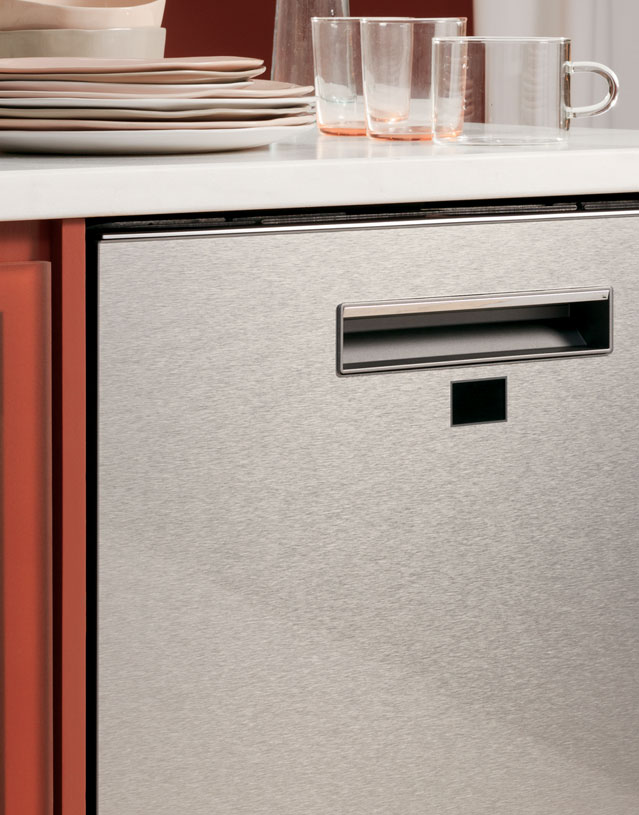 Modern Glass dishwasher finish