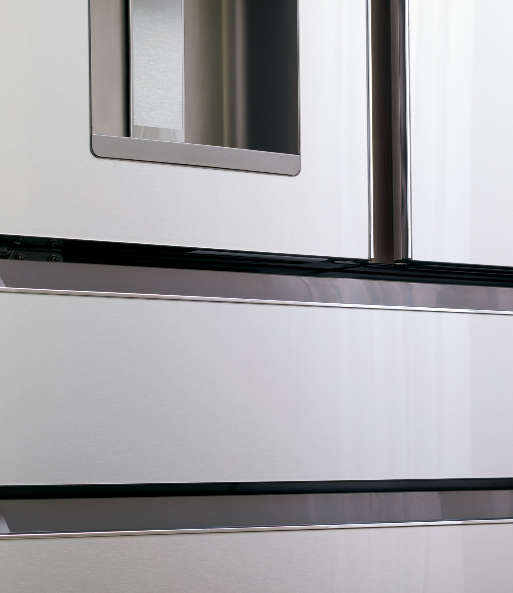 Modern Glass refrigerator finish