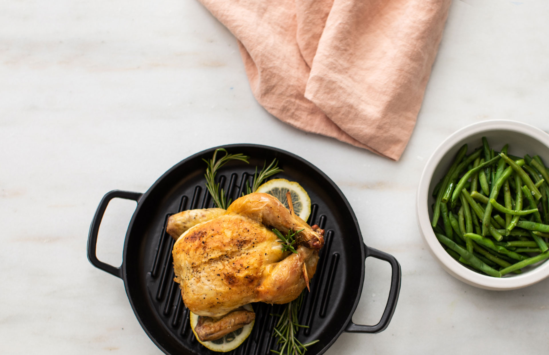Roasted Cornish Game hen with Rosemary and Lemon