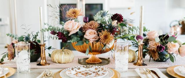 Fall-inspired tablescape