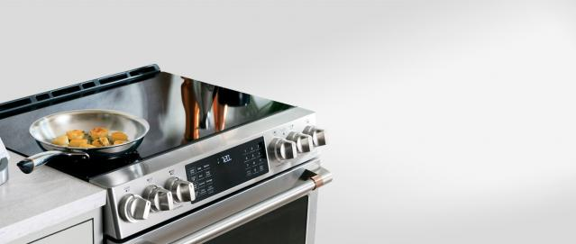 induction range with hestan cue app and smart pan
