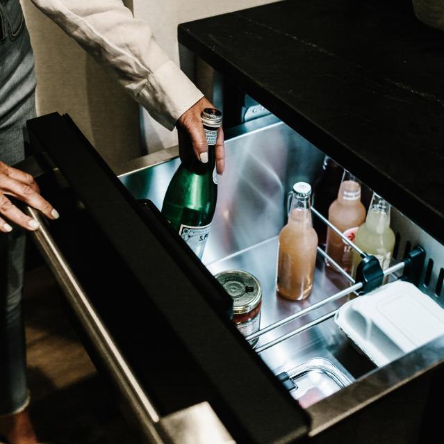 drinks in drawer refrigerator