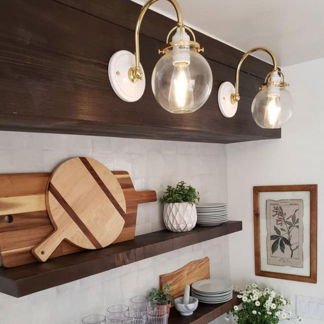 Sconces in kitchen