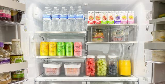 Interior of organized refrigerator